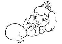 Раскраска Любимец Золушки щенок Тыковка