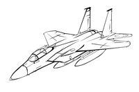 Раскраска Макдоннел-Дуглас F-15 Игл