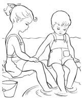 Раскраска Мальчик и девочка