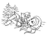 Раскраска Маленькая Эбби Боминейбл