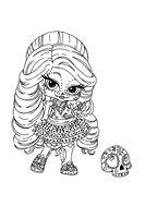 Раскраска Маленькая Скелита
