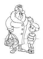 Раскраска Малыш и Фрекен Бок