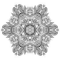 Раскраска Мандала Пробуждение весны