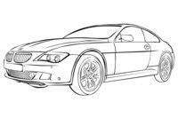 Раскраска Машина БМВ