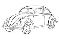 Раскраска Машина Фольксваген жук