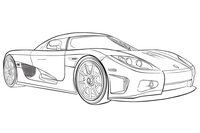 Раскраска Машина Koenigsegg