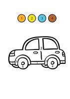 Раскраска Машина по цифрам