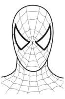 Раскраска Маска Человека паука
