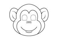 Раскраска Маска обезьянка