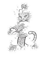 Раскраска Мастер Тигрица