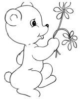 Раскраска Медвежонок на День Святого Валентина