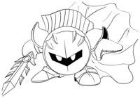 Раскраска Мета Рыцарь