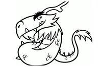 Раскраска Могучий дракон