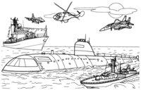 Раскраска Морское сражение