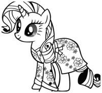 Раскраска Моя маленькая пони Рарити