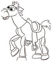 Раскраска Мультяшная лошадка