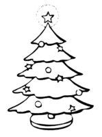 Раскраска На новогодней елке светится верхушка