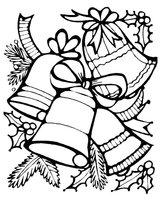 Раскраска Набор новогодних украшений