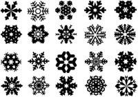Раскраска Набор различных снежинок