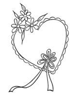 Раскраска Нарядная валентинка