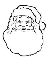 Раскраска Неожиданное появление Деда Мороза