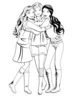 Раскраска Неразлучные друзья Барби