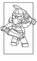 Раскраска Ninjago Kai ZX