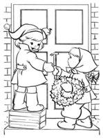 Раскраска Новый год. Развлечения для детей