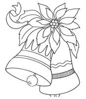 Раскраска Новогодние колокольчики