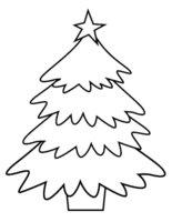 Раскраска Новогодняя елка в кадке