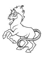 Раскраска Новогодняя лошадь