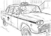 Раскраска Нью-Йоркское такси