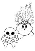 Раскраска Огонь Кирби и Габон