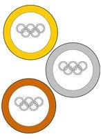 Раскраска олимпийские медали