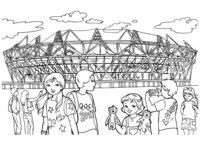 Раскраска Олимпийский стадион