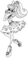 Раскраска Оперетта — дочь Призрака Оперы