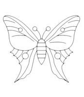 Раскраска Оригинальная бабочка