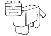 Раскраска Оцелот из Майнкрафт