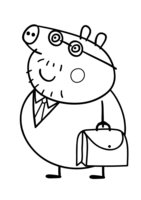 Раскраска Папа Свин