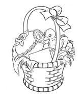 Раскраска Пасха-подарок