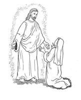 Раскраска Пасхальная библейская сценка