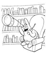 Раскраска Патрик и Губка Боб с сачками