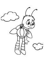 Раскраска Пчелёнок