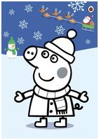 Раскраска Пеппа на Рождество и Новый год