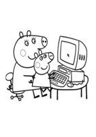 Раскраска Пеппа за компьютером