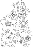 Раскраска Первые весенние цветы