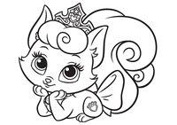 Раскраска Питомец Авроры котёнок Милашка