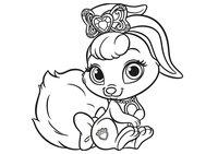 Раскраска Питомец Белоснежки кролик Ягодка