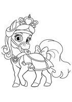 Раскраска Питомец Белоснежки пони Красотка