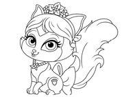 Раскраска Питомец Мулан котёнок Сливка